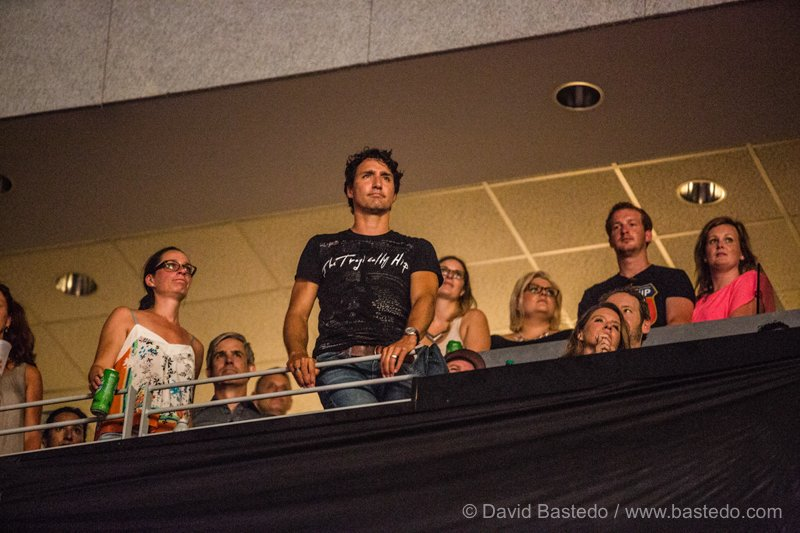 The Prime Minister of Canada - Justin Trudea attending The Tragically Hip's Final Concert