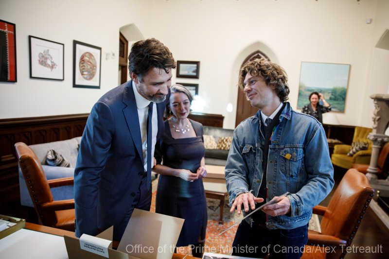 I get to gift the Prime Minister of Canada with some Images