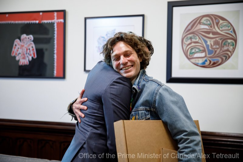 I get an incredible hug from the Prime Minister of Canada