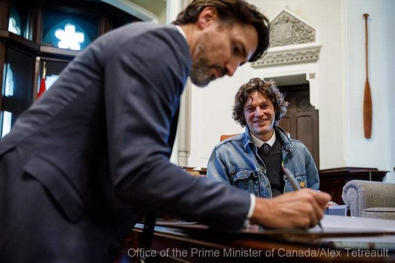 Justin Trudea - The Prime Minister of Canada - sign images for me