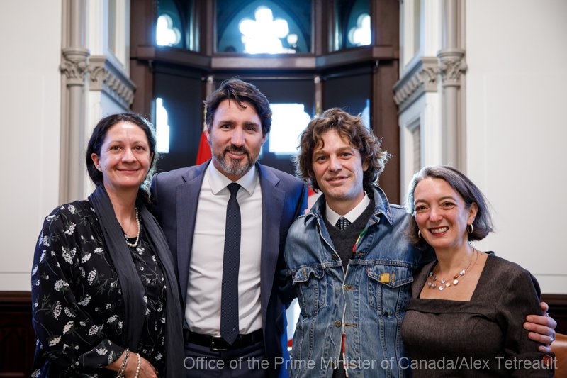 Group Photo - My wife, the Prime Ministr of Canada - Justin Trudea, and my MP, Julie Dabrusin, Toronto-Danforth